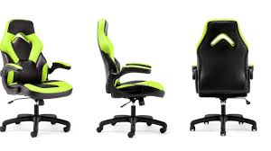 Leather Gaming Chairs Ess 3085 Essentials By Ofm Racing Style Leather Gaming Chair Youtube