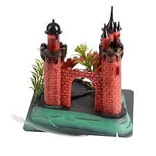 saim aquarium plastic resin castle ornament live