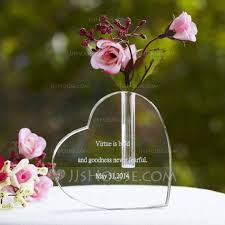Heart Shaped Glass Vase Personalized Heart Shaped Glass Cake Topper 119033773