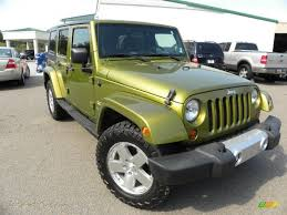 jeep rescue green 2008 jeep wrangler unlimited sahara 4x4 in rescue green metallic