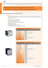 miniature motor contactors capacitor duty contactors auxiliary