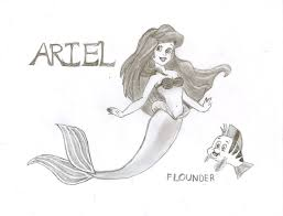 ariel and flounder the little mermaid by nativefaery on deviantart