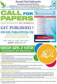 artikel format paper ilmiah call for papers jurnal gizi indonesia ilmu gizi undip