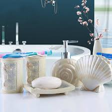 Shell Bathroom Accessories by Aliexpress Com Buy New Diy Sea Shell Style 5pcs Bathroom