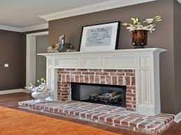 paint color with red brick fireplace best fireplace 2017