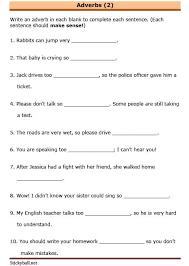 esl grammar worksheets adverbs 2