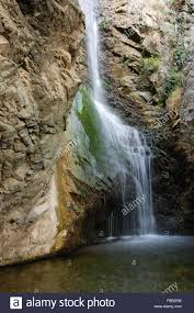 millomeri waterfalls at troodos mountains near famous village of