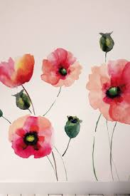best 25 removable wall ideas on pinterest removable wall removable wall murals watercolor poppies wall art kit by brewster home fashions on hautelook