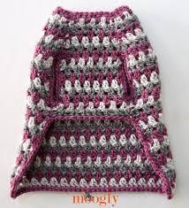 crochet pattern for dog coat well dressed dog coat free crochet pattern in 4 sizes on mooglyblog