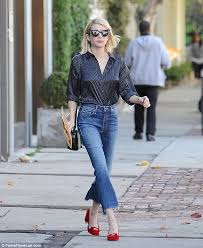 emma roberts shows off velvet boots while out and about in la