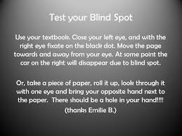 Finding Your Blind Spot In Your Eye How To Find Your Blind Spot With Paper Best Blind 2017