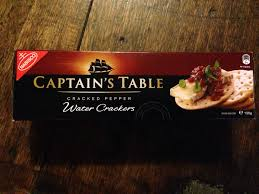 Captain S Table Panama City Captain U0027s Table Cracked Pepper Water Crackers Nabisco 125g