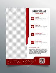 corporate business flyer template in modern sleek design u2014 stock