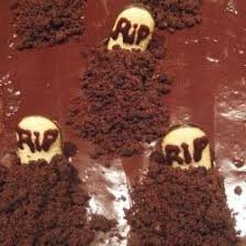 chocolate graveyard cakes with headstones graveyard cake scary