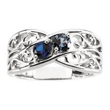 mothers rings white gold personalized s family filigree lined up to 5 birthstone