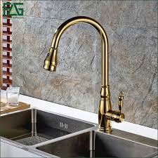 online get cheap copper faucet kitchen aliexpress com alibaba group flg spring style kitchen faucet copper golden rotatable single handle single hole sink faucet mixer tap