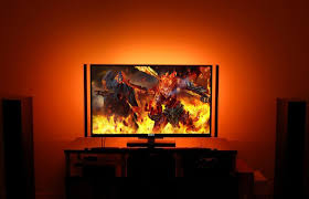 philips hue light strip behind tv i ll never go back to watching tv without this 11 device bgr