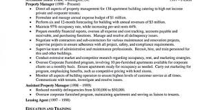 Property Manager Duties For Resume Property Management Experience Resume Assistant Property Manager