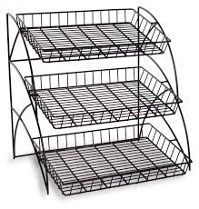 Wire Shelving Storage Wire Rack With 3 Tiers For Tabletop Open Shelving With