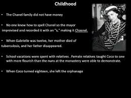coco chanel history biography coco chanel powerpoint final presentation