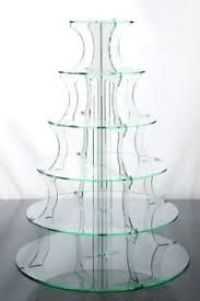 cup cake stand 6 tier glass effect wedding cake u0026 party ebay