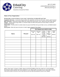 Catering Spreadsheet Food Order Form Template Besttemplates123 Sample Order
