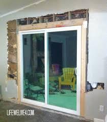 Diy Door Frame Diy Install Patio Door Mountain View Drive Pinterest Patios