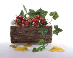 log flower box log planter rustic planter box garden box