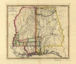 State Map Of Mississippi by On This Day In Alabama History Congress Created The Alabama