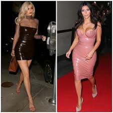 kylie jenner steps out in skin tight latex dress u2014 instantly