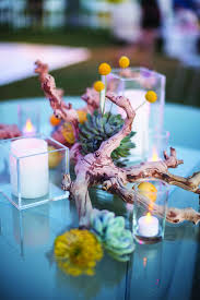 driftwood centerpieces rustic succulent and driftwood centerpieces