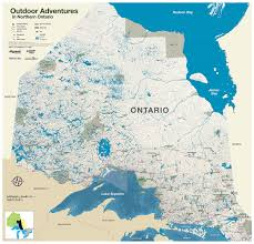 Map Of Northern Michigan by Explore Northern Ontario Outdoor Adventures