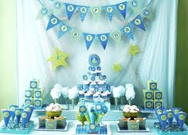 baby shower decoration ideas boy balloon blue decoration and white