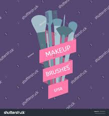 halloween breast cancer ribbon background makeup brushes tied pink ribbon on stock vector 310963874