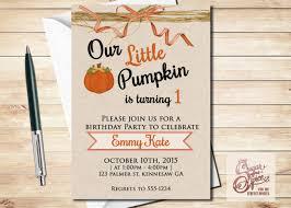 pumpkin invitation digital invitations u2014 our little pumpkin birthday invitation first
