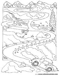 car coloring activity maze create a printout or activity