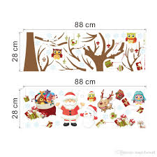 home decor wall art stickers owls christmas tree wall art murals sticker festival home decor