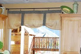 Kitchen Curtains Ideas Fascinating Burlap Kitchen Curtains Including Best Ideas About