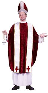 priest halloween costume amazon com funworld men u0027s cardinal costume red white one size