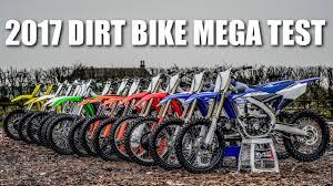 model motocross bikes 2017 dirt bike mega test battle of the bikes youtube