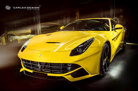 ferrari yellow car carlex design gives yellow ferrari f12 a new interior autoevolution