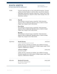 Resume Templates For Microsoft Word 2010 Microsoft Word Resume Template Free Professional Resume Template