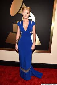 iggy azalea u0027s grammy dress 2015 is very blue u0026 very beautiful