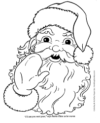 santa claus coloring pages santa claus waves goodbye honkingdonkey