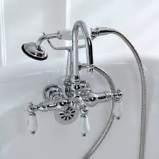 Shower Faucet For Clawfoot Tub Tub Wall Mount Chrome Clawfoot Tub Faucet Free Shipping Today