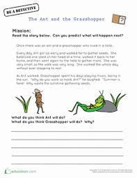 the ant and the grasshopper worksheet education com