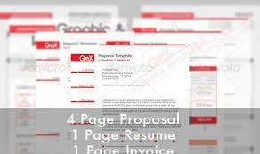 professional proposal and invoice templates designmodo