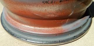 lexus wheels peeling diy corrosion on inside lip of rims leaking air how to fix