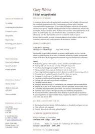 Sample Resume For Receptionist Hospitality Cv Templates Hotel Receptionist Corporate