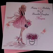 handmade personalised birthday card beautiful niece 21st